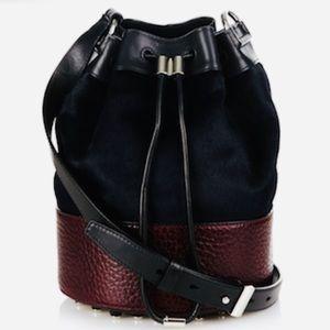 Alexander Wang Leather & Ponyhair Alpha Bucket Bag